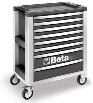 Beta C39 G/8 Mobile Roller Cab With Eight Drawers (Grey)
